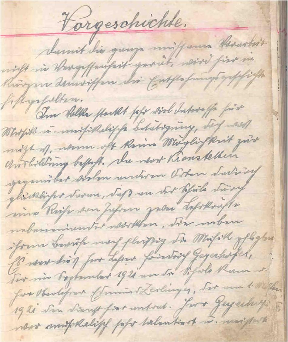 Vorgeschichte des Vereins - Originaltext aus dem Protokollbuch 1935